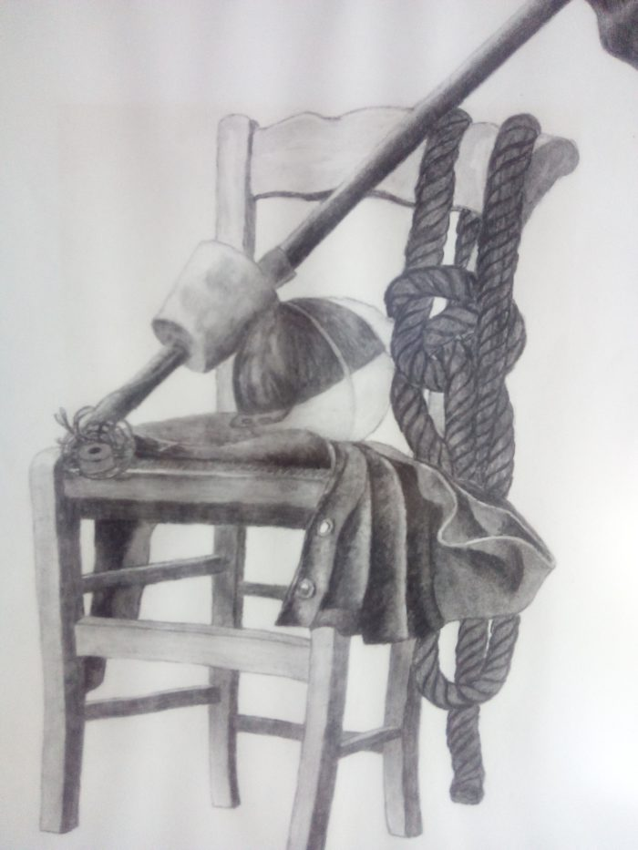 tekening schilderij houtskool